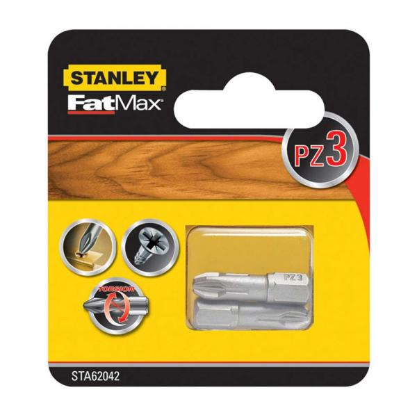 Набор бит FatMax Torsion STANLEY STA62042, PZ3х25 мм, 2 шт
